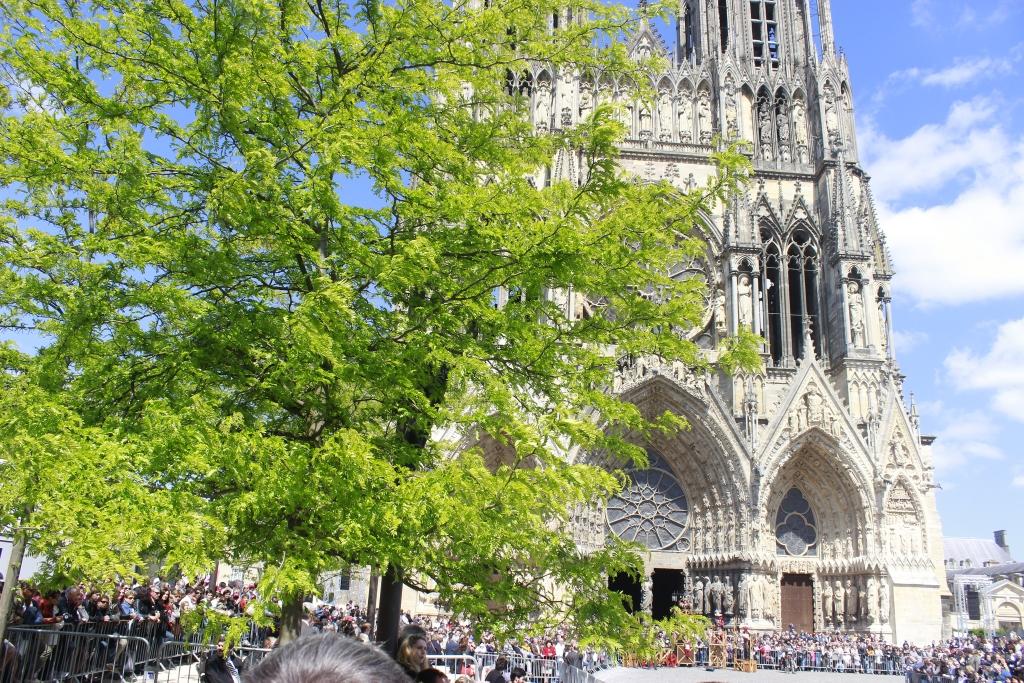 Admirez la cathédrale de Reims