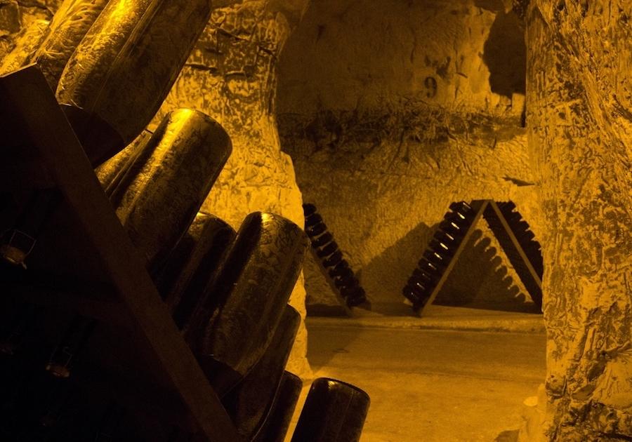 Cellars caves Taittinger Tour Champagne